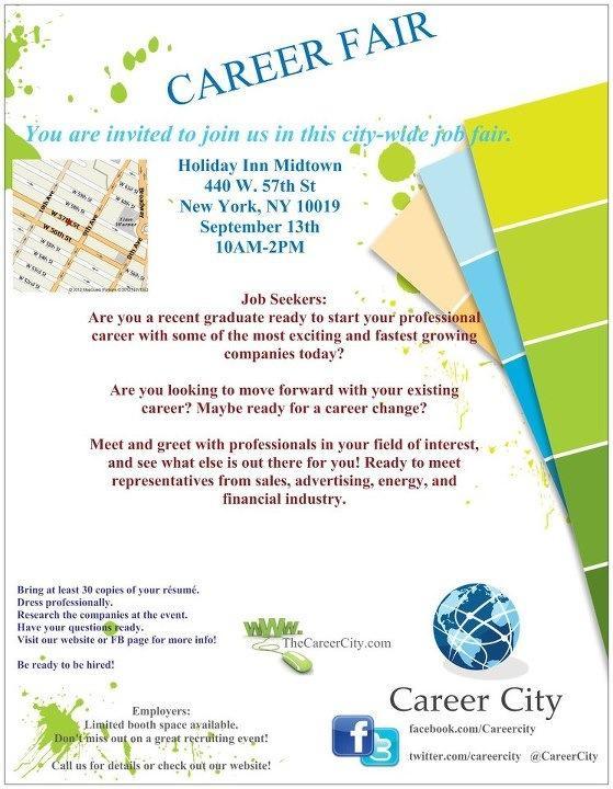 Join career city September 13th in Manhattan